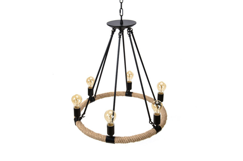Pendant Lamp Hemp Rope - TUGUE 600
