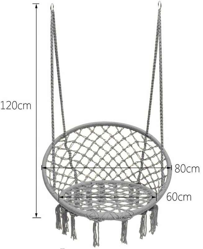 Huśtawka Ogrodowa Ażurowa Fotel Wiszący Bocianie Gniazdo