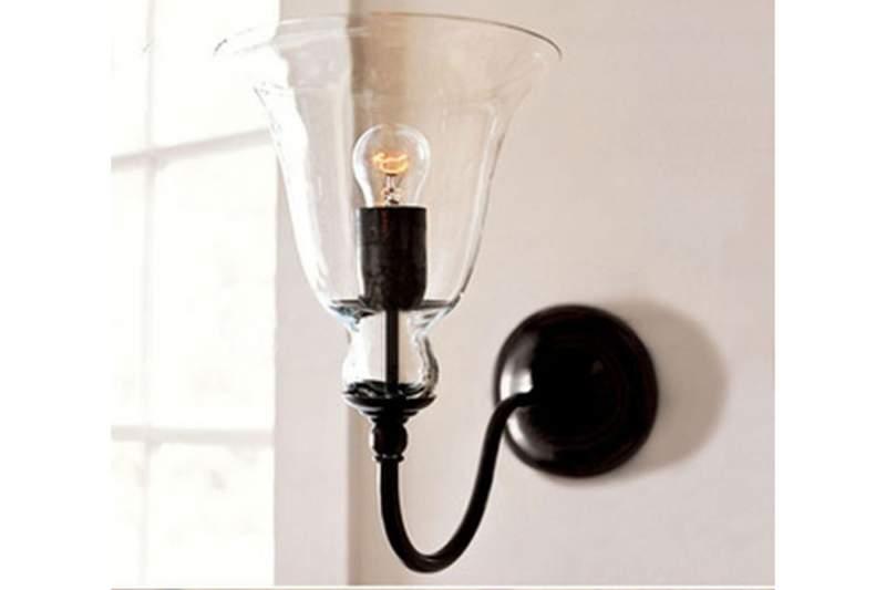 Kinkiet Lampa Ścienna Szklany Dzwon - UTOWYNET