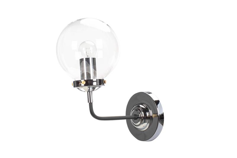 Lampa MORED 1 Chromowana Czyste Szkło