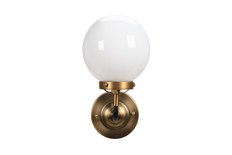 Lampa MORED 1 Złota Mleczne Szkło