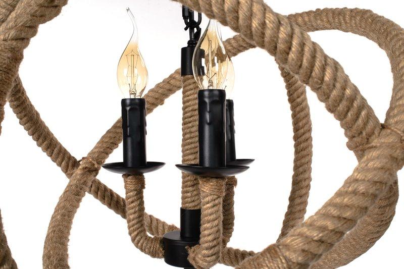 Lampa Wisząca Sznur Lina - ALONZO 430