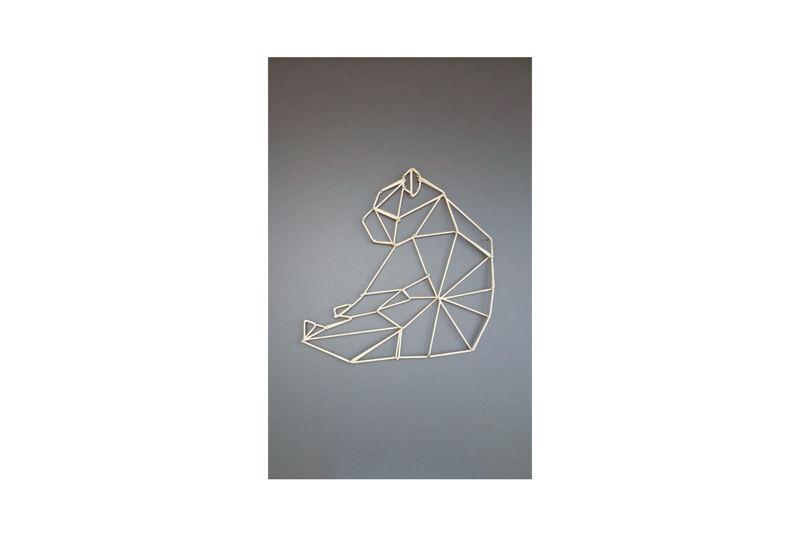 Obraz STRING ART NIEDŹWIEDŹ - WOOLEN LUMBERJACK