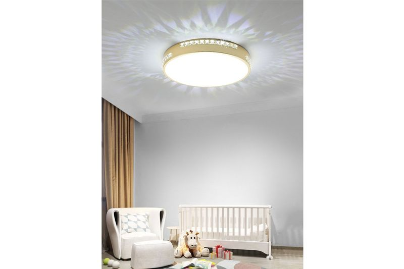 Plafon Lampa Sufitowa BOZON 450 Okrągła - Z Kryształkami