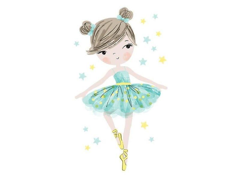 naklejka | baletnica miętowa Pastelowe Love