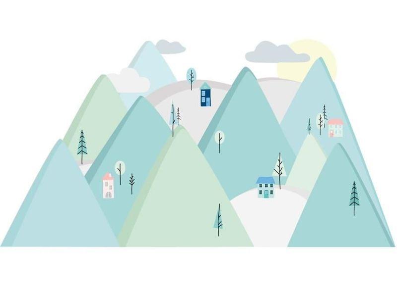 naklejka | góry miętowe Pastelowe Love
