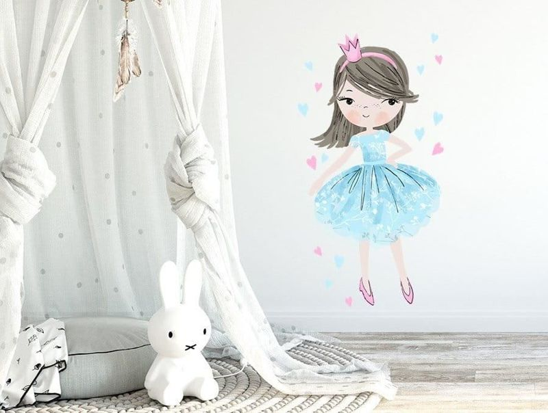 naklejka | księżniczka niebieska Pastelowe Love